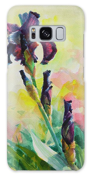 Galaxy Case featuring the painting Purple Iris by Steve Henderson