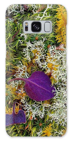 Purple Leaf Galaxy Case