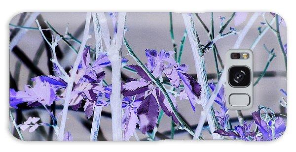 Purple Leaves Galaxy Case