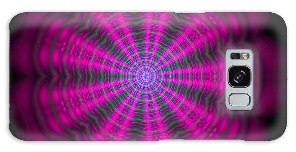 Purple Lightmandala Ripples Galaxy Case by Robert Thalmeier