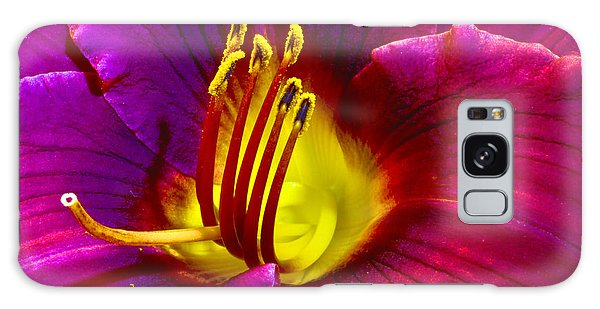 Galaxy Case featuring the photograph Purple Lily by Bill Barber