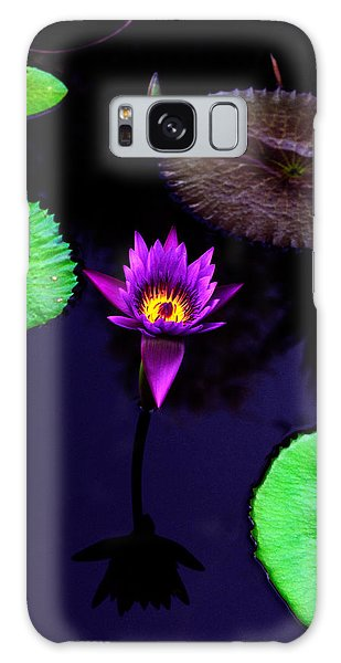 Lily Galaxy Case - Purple Lily by Gary Dean Mercer Clark