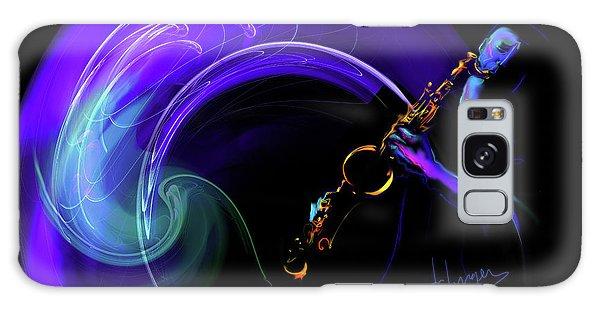 Purple Moon Galaxy Case by DC Langer