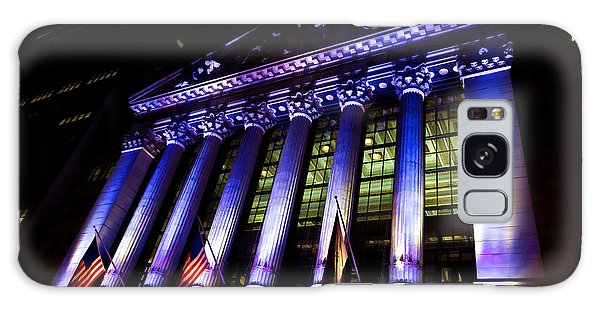 Purple New York Stock Exchange At Night - Impressions Of Manhattan Galaxy Case