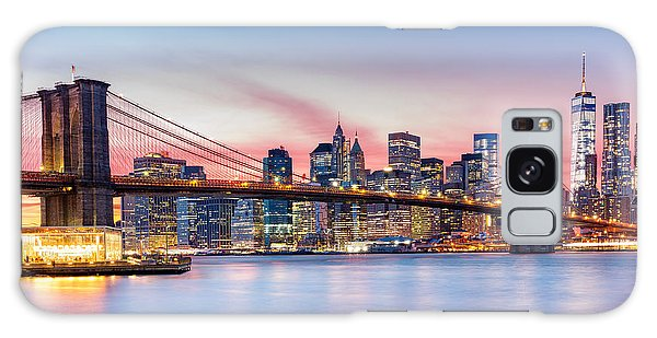 Purple Nyc Sunset Galaxy Case