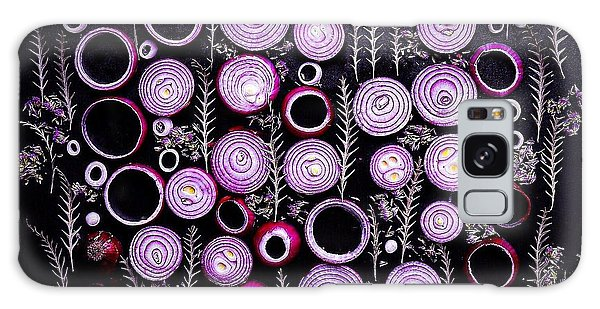 Purple Onion Patterns Galaxy Case