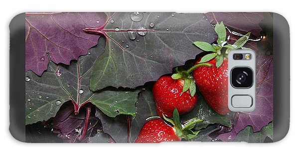 Purple Orach With Strawberries Galaxy Case