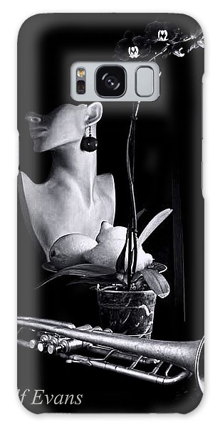 Galaxy Case featuring the photograph Purple Orchid by Elf Evans