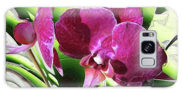 Purple Orchid Galaxy Case by Hai Pham