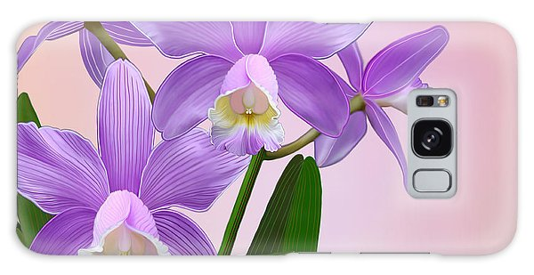 Purple Orchids Galaxy Case