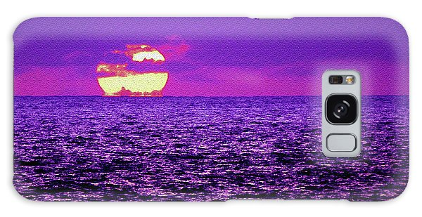 Purple Pacific With Sandstone Texture Galaxy Case