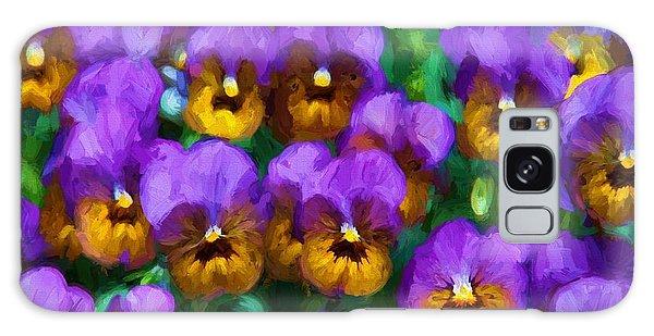 Purple Pansies Galaxy Case