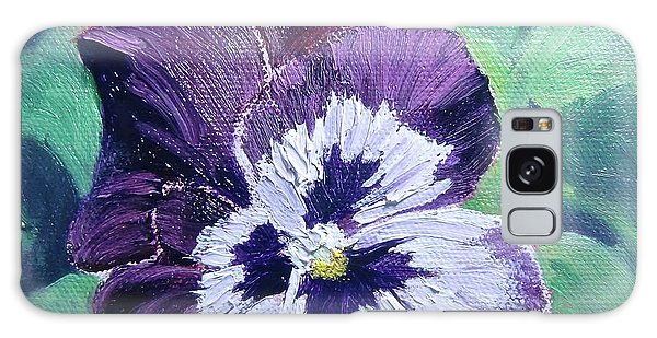Purple Pansy Galaxy Case