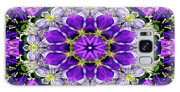 Purple Passion Floral Design Galaxy Case