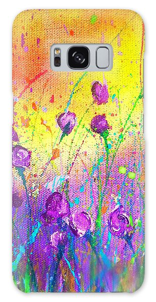 Purple Posies Galaxy Case