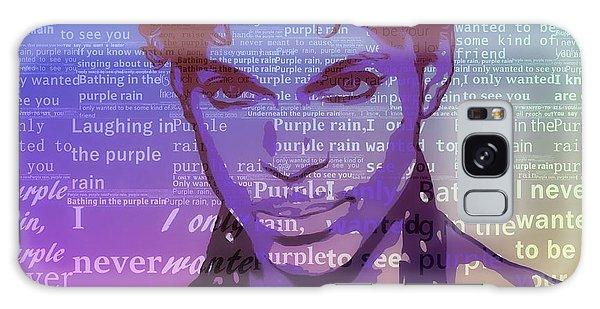 Purple Rain Typography Galaxy Case