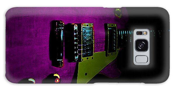 Galaxy Case featuring the digital art Purple Relic Les Paul II Hover Series by Guitar Wacky