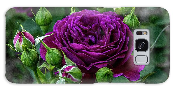 Purple Rose Galaxy Case
