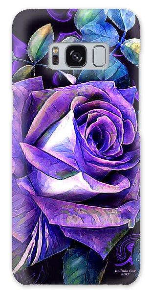 Purple Rose Bud Painting Galaxy Case