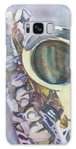 Saxophone Galaxy Case - Purple Sax by Jenny Armitage