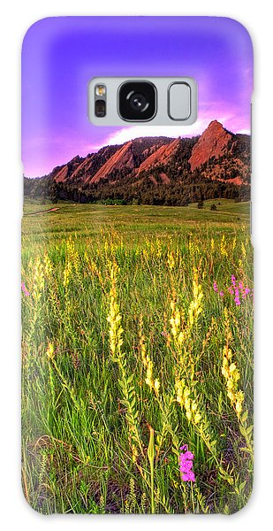 Purple Skies And Wildflowers Galaxy Case by Scott Mahon