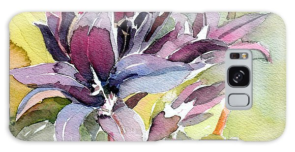 Purple Stem Aster Galaxy Case by Mindy Newman
