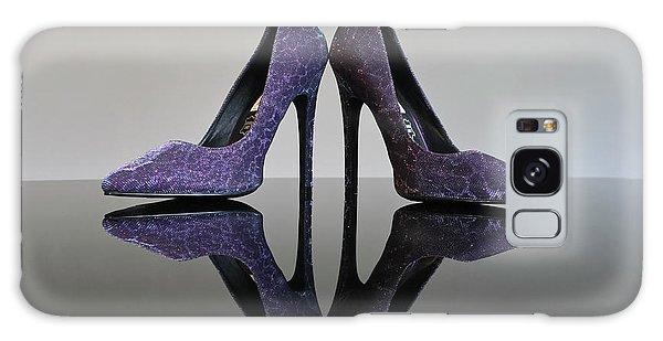 Purple Stiletto Shoes Galaxy Case