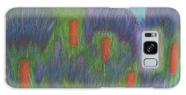 Purple Strife And Cattails Galaxy Case