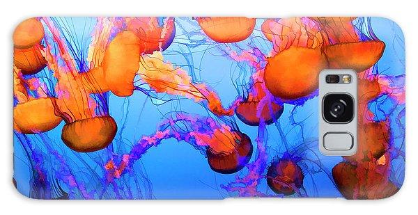 Purple Striped Jelly Fish I  Galaxy Case