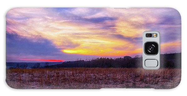 Purple Sunset At Retzer Nature Center Galaxy Case by Jennifer Rondinelli Reilly - Fine Art Photography