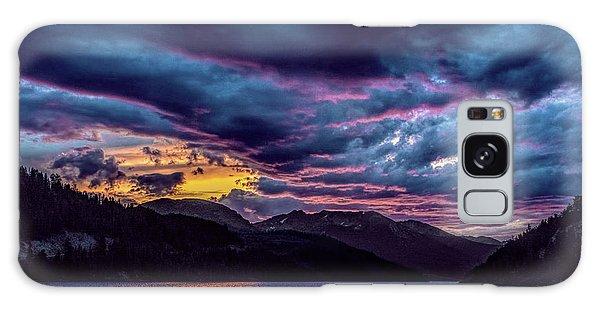 Purple Sunset At Summit Cove Galaxy Case