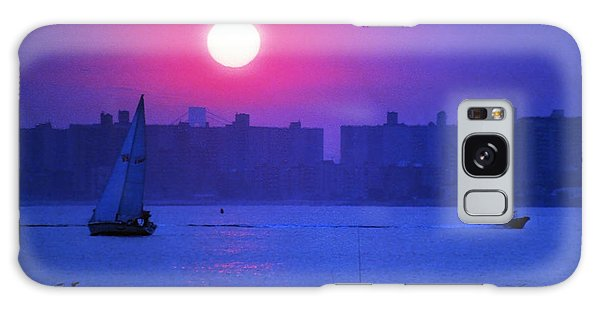 Purple Sunset Off Breezy Point Bayside Galaxy Case by Maureen E Ritter