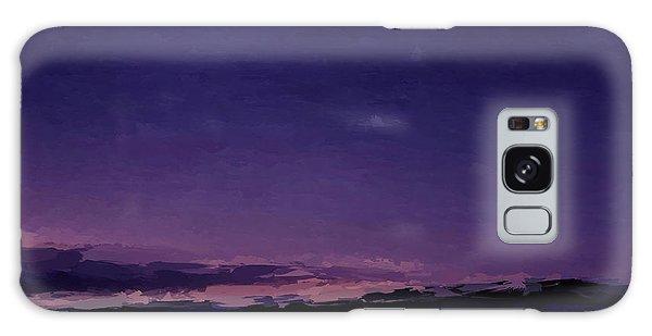 Purple Sunset Over Beach  Galaxy Case
