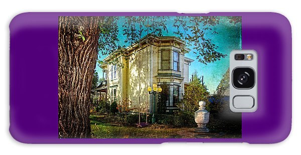 House With The Purple Swing Galaxy Case