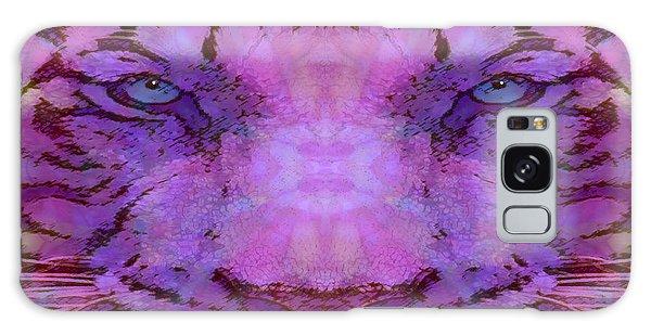 Purple Tiger Galaxy Case by Barbara Tristan