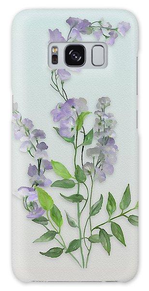 Purple Tiny Flowers Galaxy Case by Ivana Westin