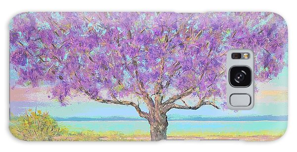 Purple Tree Galaxy Case