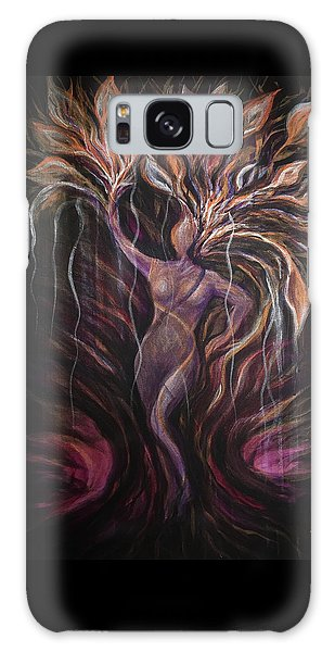 Purple Tree Goddess Galaxy Case