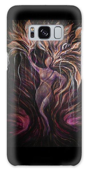 Purple Tree Goddess Galaxy Case