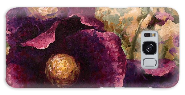 Purple Trio-flowers Galaxy Case