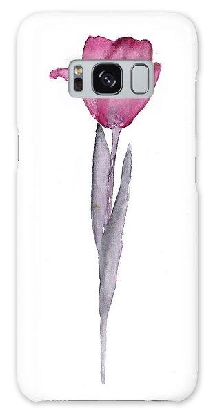 Tulips Galaxy Case - Purple Tulip Botanical Artwork Poster by Joanna Szmerdt