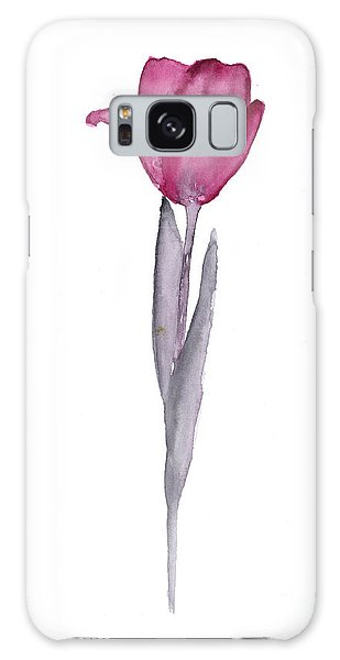 Tulip Galaxy S8 Case - Purple Tulip Botanical Artwork Poster by Joanna Szmerdt