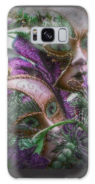 Purple Twins Galaxy Case by Amanda Eberly-Kudamik