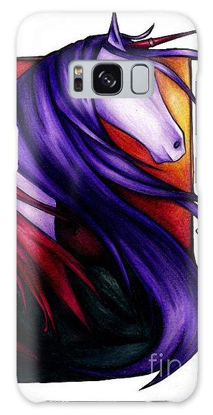 Purple Unicorn With Fairy Friend Galaxy Case