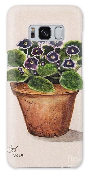 Garden Galaxy Case - Purple Violets by Elizabeth Robinette Tyndall