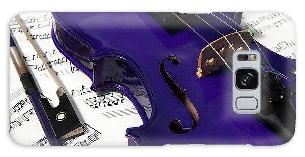 Purple Violin And Music V Galaxy Case