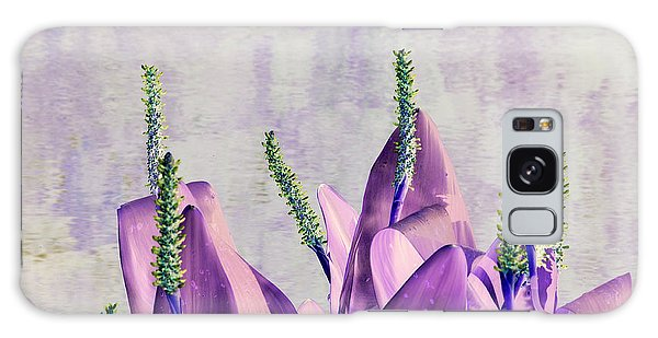 Purple Water Plant Galaxy Case