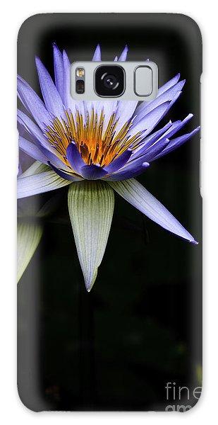 Purple Waterlily Galaxy Case by Avalon Fine Art Photography