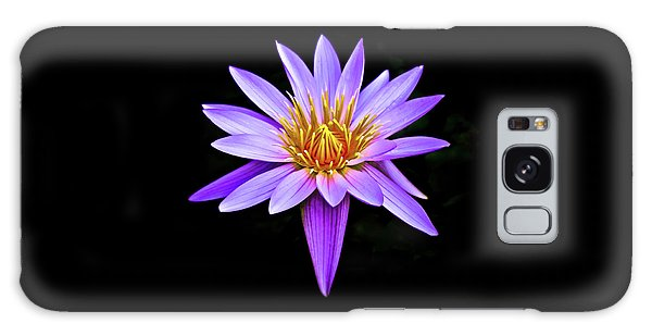 Purple Waterlily With Golden Heart Galaxy Case