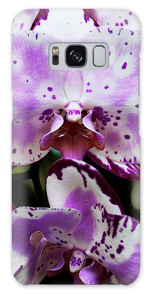 Purple And White Orchid Galaxy Case